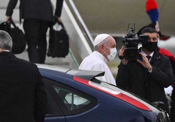 صورة رقم 24 - فيديو وصور: بابا الفاتيكان فرنسيس يصل إلى العراق في زيارة تاريخية