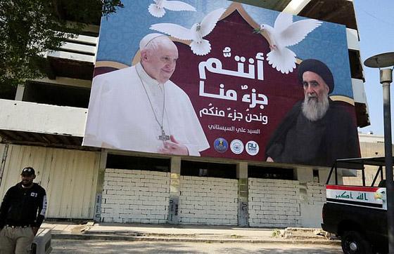 صورة رقم 6 - فيديو وصور: بابا الفاتيكان فرنسيس يصل إلى العراق في زيارة تاريخية