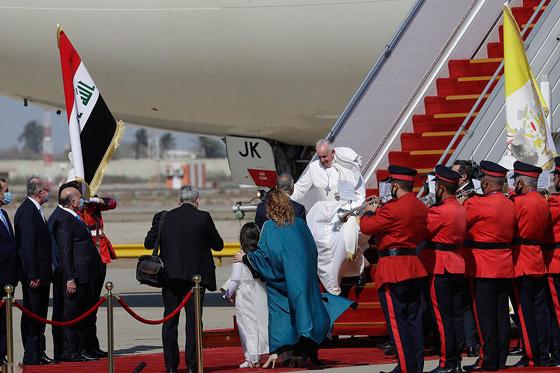 صورة رقم 29 - فيديو وصور: بابا الفاتيكان فرنسيس يصل إلى العراق في زيارة تاريخية