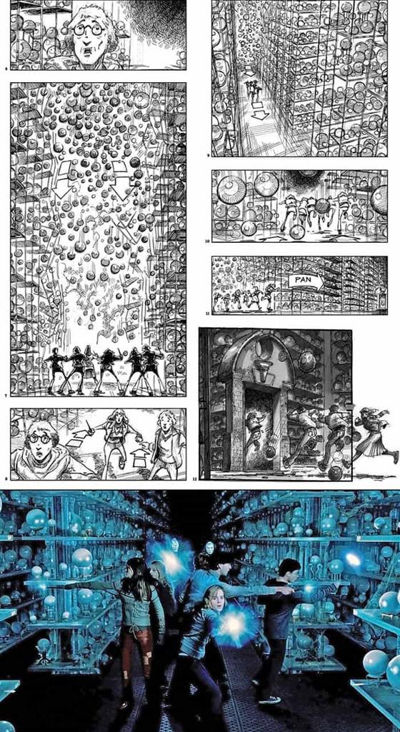 صورة رقم 1 - رسومات لأفلام شهيرة تكشف كيف تبدو قبل إنتاجها وتصويرها في الواقع