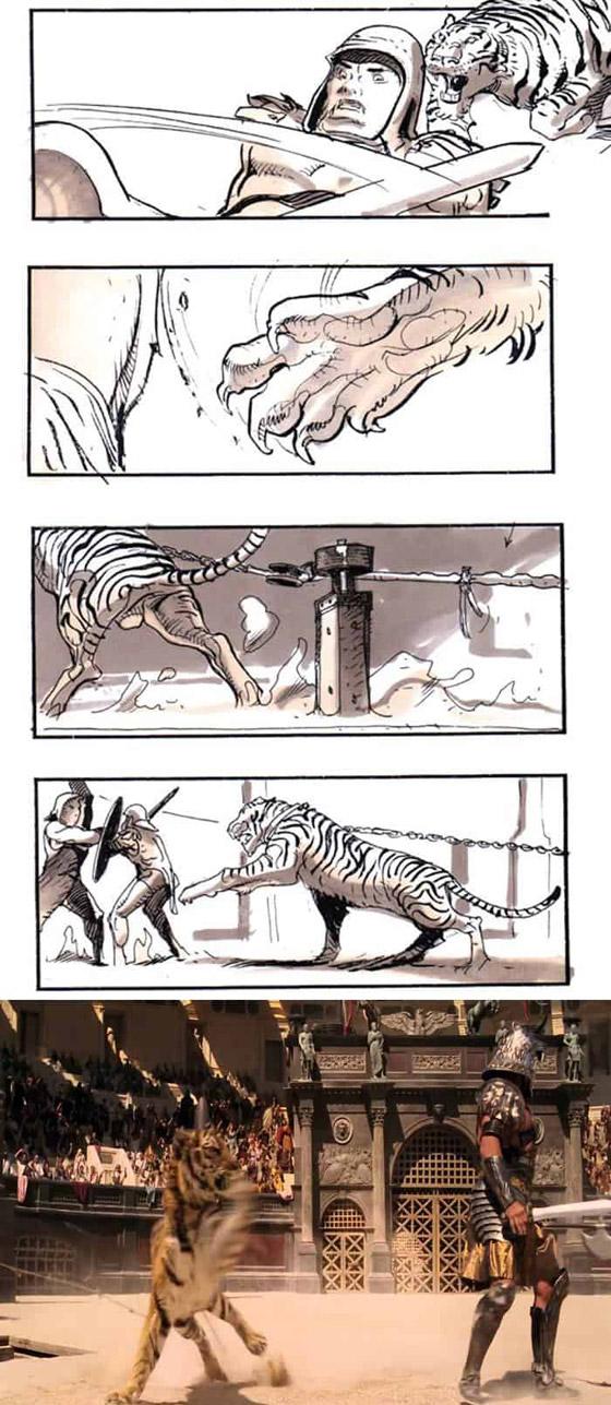 صورة رقم 5 - رسومات لأفلام شهيرة تكشف كيف تبدو قبل إنتاجها وتصويرها في الواقع