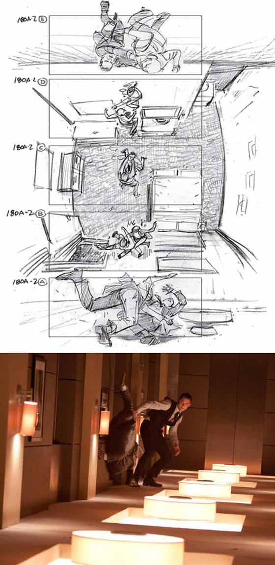 صورة رقم 8 - رسومات لأفلام شهيرة تكشف كيف تبدو قبل إنتاجها وتصويرها في الواقع