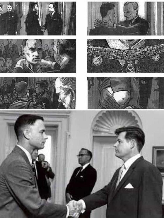 صورة رقم 10 - رسومات لأفلام شهيرة تكشف كيف تبدو قبل إنتاجها وتصويرها في الواقع