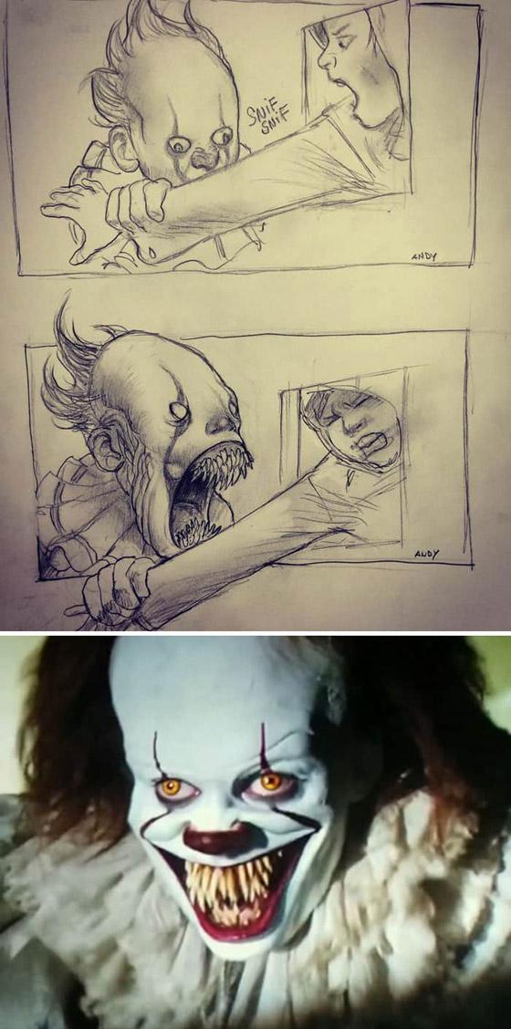 صورة رقم 11 - رسومات لأفلام شهيرة تكشف كيف تبدو قبل إنتاجها وتصويرها في الواقع