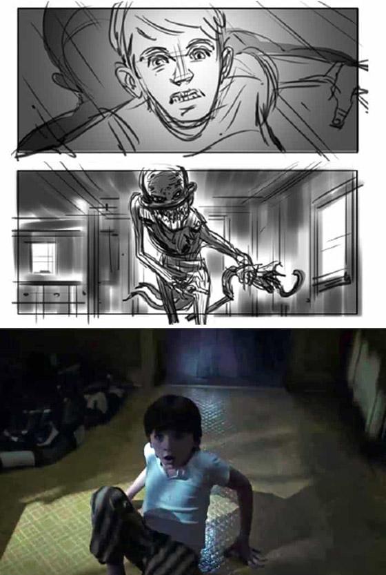 صورة رقم 24 - رسومات لأفلام شهيرة تكشف كيف تبدو قبل إنتاجها وتصويرها في الواقع
