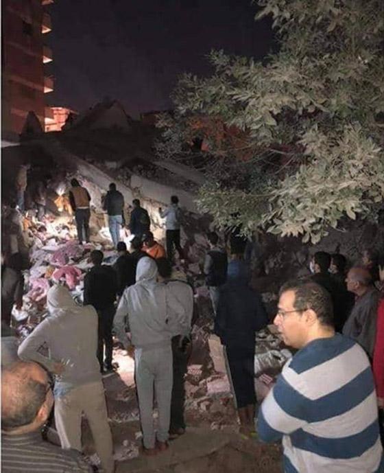 صورة رقم 2 - بالفيديو والصور.. انهيار عقار من 10 طوابق في القاهرة