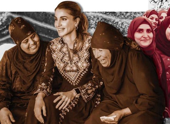 صورة رقم 19 - الثوب الأردني التقليدي على الملكة رانيا: التراث الأصيل في أبهى صوره