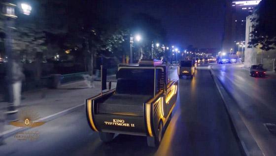 صورة رقم 6 - الرحلة الذهبية: مشهد تاريخي لنقل المومياوات المصرية الملكية بموكب مهيب