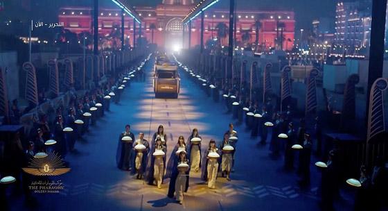 صورة رقم 4 - الرحلة الذهبية: مشهد تاريخي لنقل المومياوات المصرية الملكية بموكب مهيب