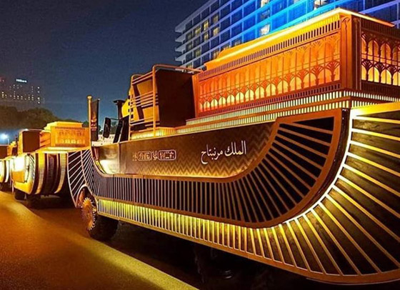 صورة رقم 33 - الرحلة الذهبية: مشهد تاريخي لنقل المومياوات المصرية الملكية بموكب مهيب
