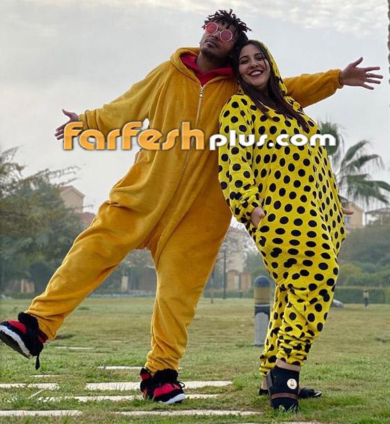 صور مي كساب مع أوكا تصدم جمهورها بزيادة وزن كبيرة وتؤكد: مش حامل! صورة رقم 5