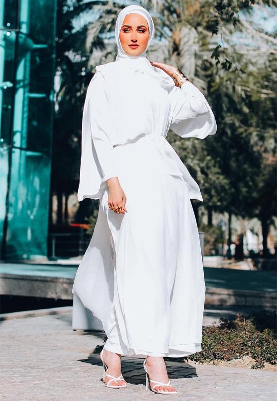 صورة رقم 6 - بالصور: إليكم إطلالات محتشمة للمحجبات في رمضان 2021