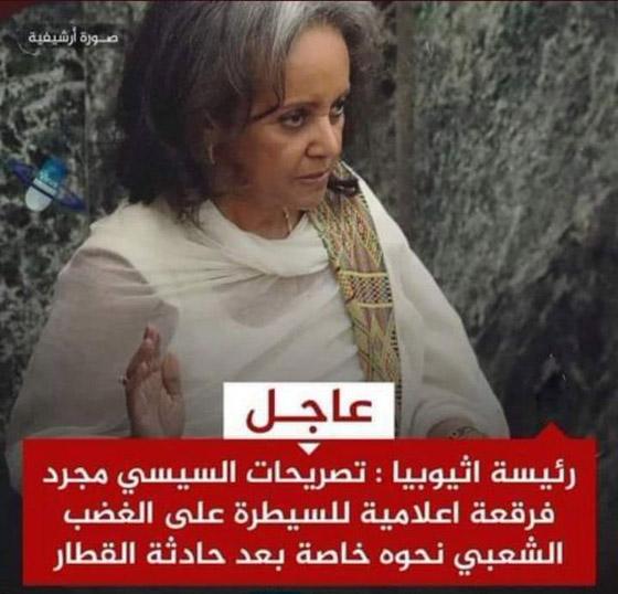 صورة رقم 1 - تصريح مستفز للمصريين.. هل قالت رئيسة إثيوبيا هذا الكلام عن السيسي فعلا؟