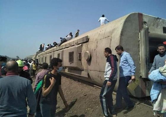 صورة رقم 3 - حادث قطار طوخ: 11 قتلى و100 جرحى بثالث حادث قطارات في مصر خلال شهر