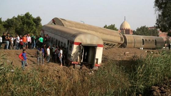 صورة رقم 8 - حادث قطار طوخ: 11 قتلى و100 جرحى بثالث حادث قطارات في مصر خلال شهر