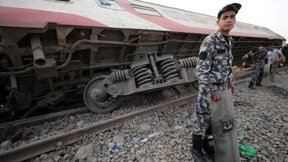 صورة رقم 4 - حادث قطار طوخ: 11 قتلى و100 جرحى بثالث حادث قطارات في مصر خلال شهر