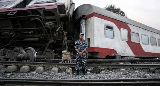 صورة رقم 9 - حادث قطار طوخ: 11 قتلى و100 جرحى بثالث حادث قطارات في مصر خلال شهر