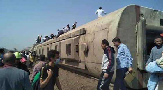 صورة رقم 10 - حادث قطار طوخ: 11 قتلى و100 جرحى بثالث حادث قطارات في مصر خلال شهر