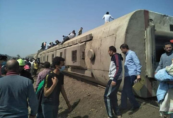 صورة رقم 5 - حادث قطار طوخ: 11 قتلى و100 جرحى بثالث حادث قطارات في مصر خلال شهر