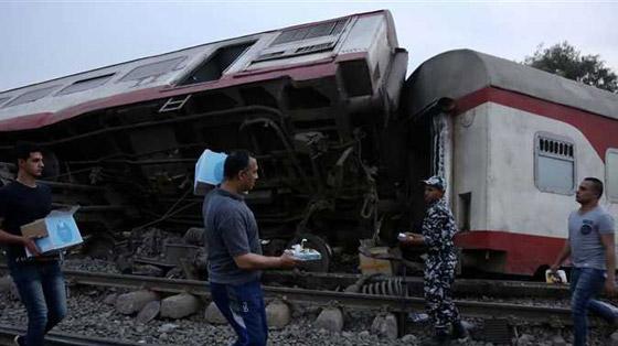 صورة رقم 15 - حادث قطار طوخ: 11 قتلى و100 جرحى بثالث حادث قطارات في مصر خلال شهر