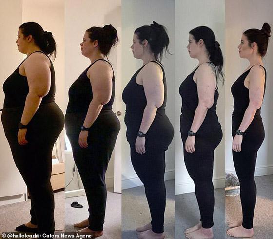 صورة رقم 1 - بريطانية تخسر اكثر من نصف وزنها بعام واحد! من 147 لـ 63 كغم! ما سر الريجيم الذي قامت به؟