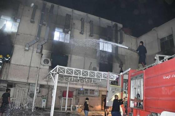 صورة رقم 6 - 27 وفاة على الأقل جراء حريق بمستشفى لمرضى كورونا في بغداد