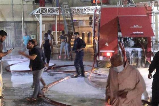 صورة رقم 3 - 27 وفاة على الأقل جراء حريق بمستشفى لمرضى كورونا في بغداد