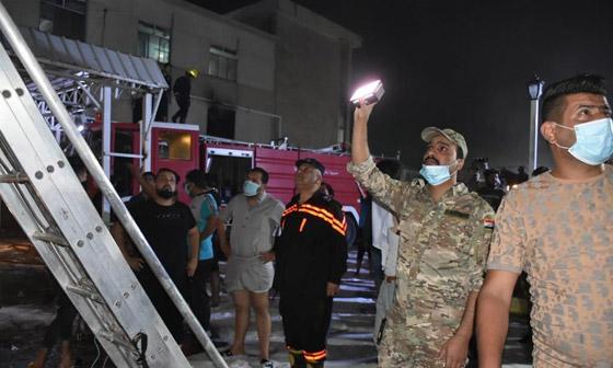 صورة رقم 8 - 27 وفاة على الأقل جراء حريق بمستشفى لمرضى كورونا في بغداد