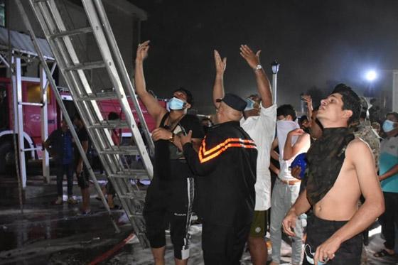 صورة رقم 9 - 27 وفاة على الأقل جراء حريق بمستشفى لمرضى كورونا في بغداد