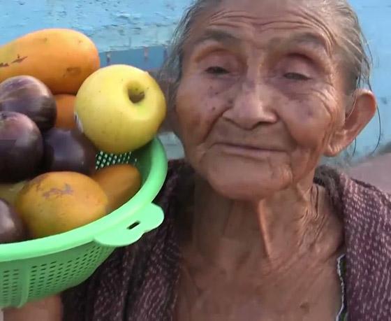 صورة رقم 3 - فيديو وصور عجوز مكسيكية (88 عاما) تتسلق الأشجار بلياقة مذهلة لتجني الفاكهة لتبيعها وتقطع الخشب