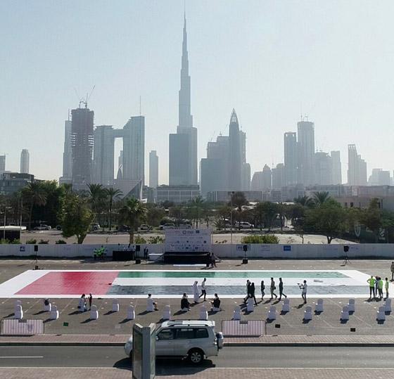 صورة رقم 3 - الإمارات تدخل موسوعة غينيس بأكبر لوحة فسيفسائية تجسد علم الدولة