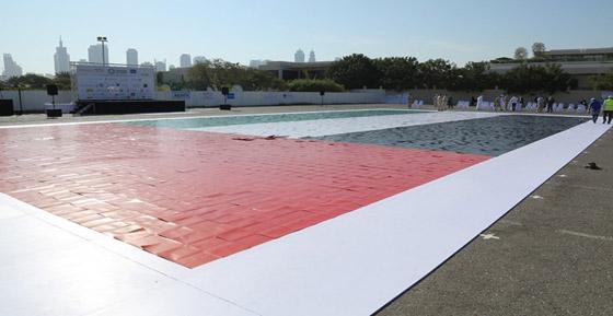 صورة رقم 5 - الإمارات تدخل موسوعة غينيس بأكبر لوحة فسيفسائية تجسد علم الدولة