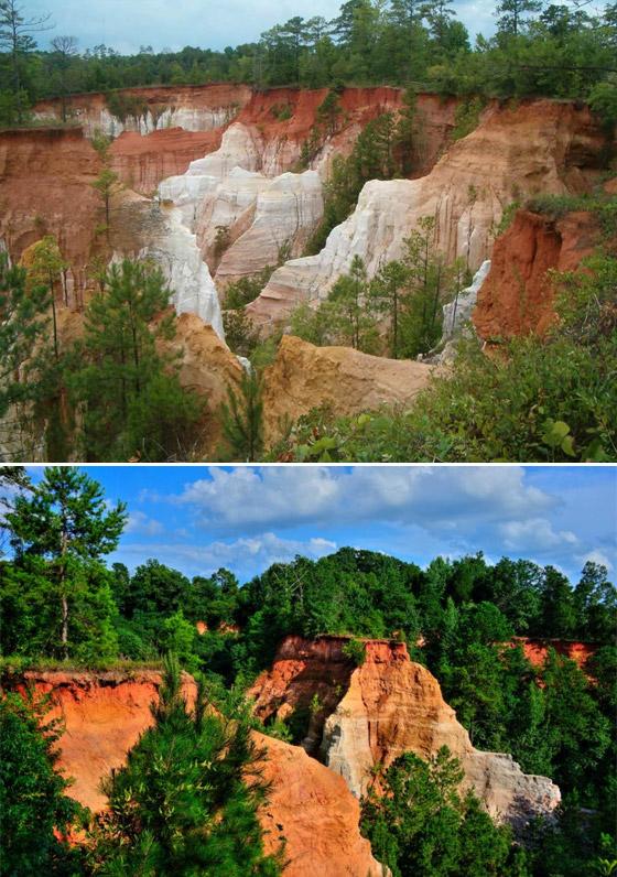صورة رقم 2 - صور: تعرفوا على الأماكن الطبيعية الرائعة التي صنعها البشر على مر السنين