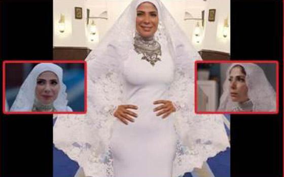 صورة رقم 6 - مصمم فستان زفاف منى زكي في