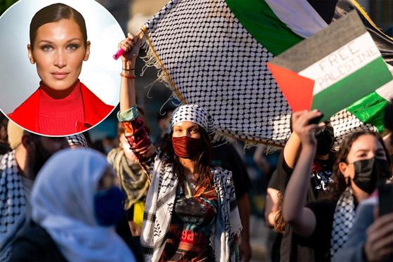 صورة رقم 3 - صور: بيلا حديد تعبر من جديد عن حبها لوطنها فلسطين