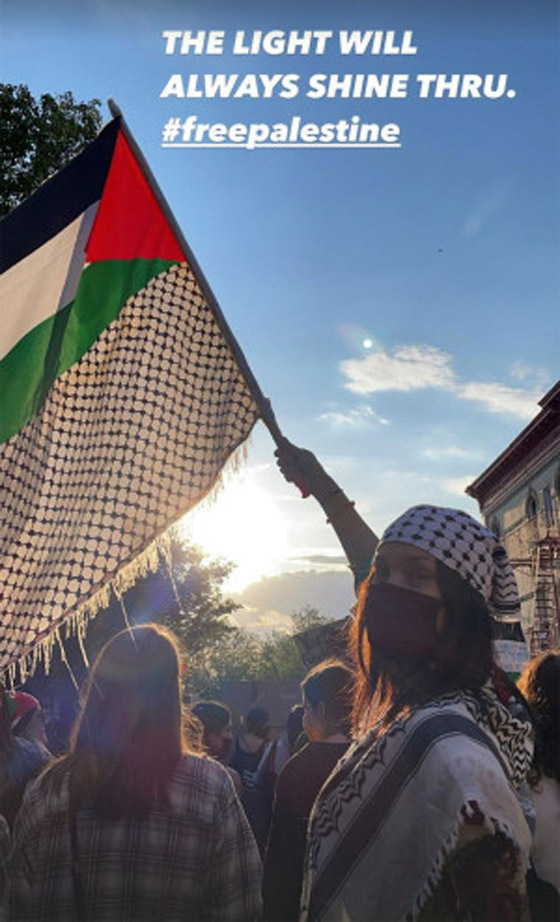 صورة رقم 8 - صور: بيلا حديد تعبر من جديد عن حبها لوطنها فلسطين
