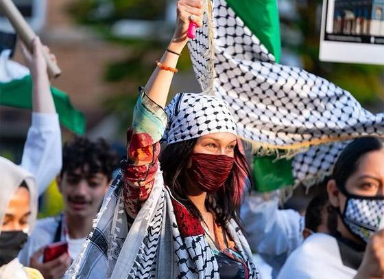 صورة رقم 5 - صور: بيلا حديد تعبر من جديد عن حبها لوطنها فلسطين