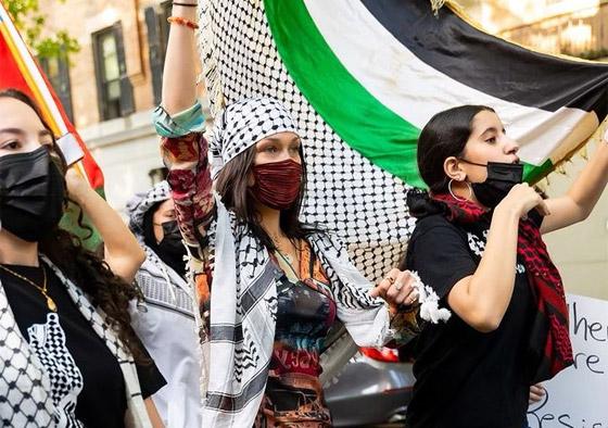 صورة رقم 4 - صور: بيلا حديد تعبر من جديد عن حبها لوطنها فلسطين