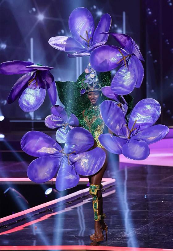 صورة رقم 19 - صور: أبهر وأجمل الأزياء الوطنية في مسابقة ملكة جمال الكون 2021