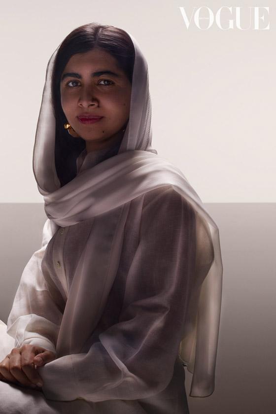 صورة رقم 3 - كشف النقاب عن الباكستانية ملالا كأحدث نجمة غلاف لمجلة فوغ البريطانية