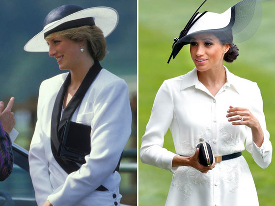 صورة رقم 2 - 9 مرات قلدت ميجان ماركل إطلالات حماتها الأميرة ديانا.. أيهما بدت أجمل؟ صور..