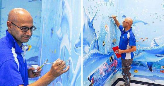 صورة رقم 5 - كيف حول فنان إيطالي مستشفى كئيبا إلى جنة للأطفال؟
