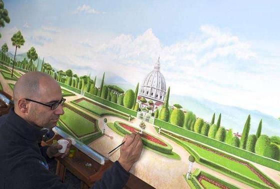 صورة رقم 7 - كيف حول فنان إيطالي مستشفى كئيبا إلى جنة للأطفال؟