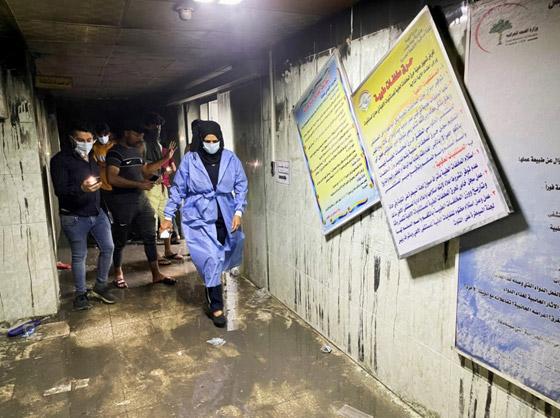 صورة رقم 4 - حصيلة كارثية.. ارتفاع عدد ضحايا حريق مستشفى كورونا بالعراق