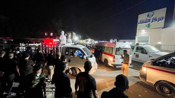 صورة رقم 9 - حصيلة كارثية.. ارتفاع عدد ضحايا حريق مستشفى كورونا بالعراق