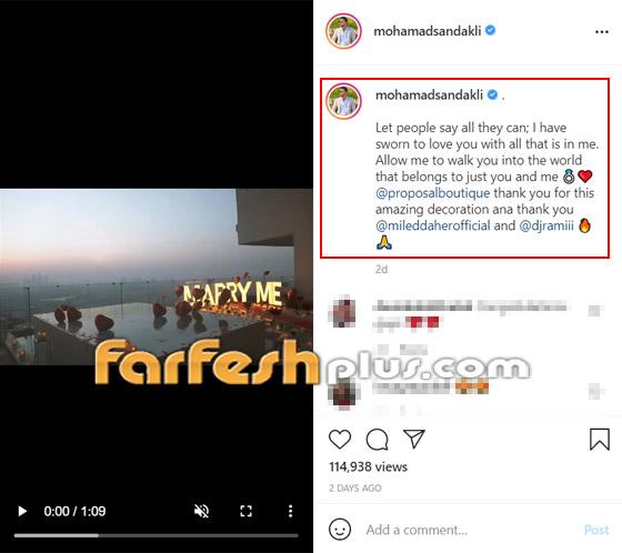 صورة رقم 1 - فيديو رومانسي: ملك جمال لبنان محمد صندقلي يفاجئ حبيبته ويطلبها للزواج