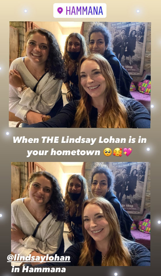 صورة رقم 3 - فيديو وصور: ليندسي لوهان تفاجئ الجميع بزيارتها المفاجئة إلى لبنان.. وتتصور مع المعجبين
