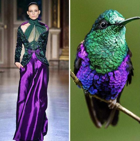 صورة رقم 2 - بالصور: إليكم أروع وأغرب صيحات الموضة المستلهمة من الطبيعة