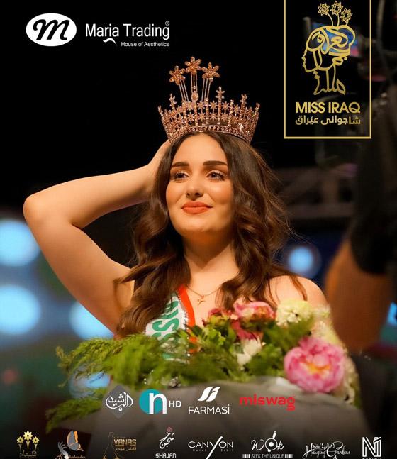 صورة رقم 3 - ماريا فرهاد تتوج بملكة جمال العراق لعام 2021