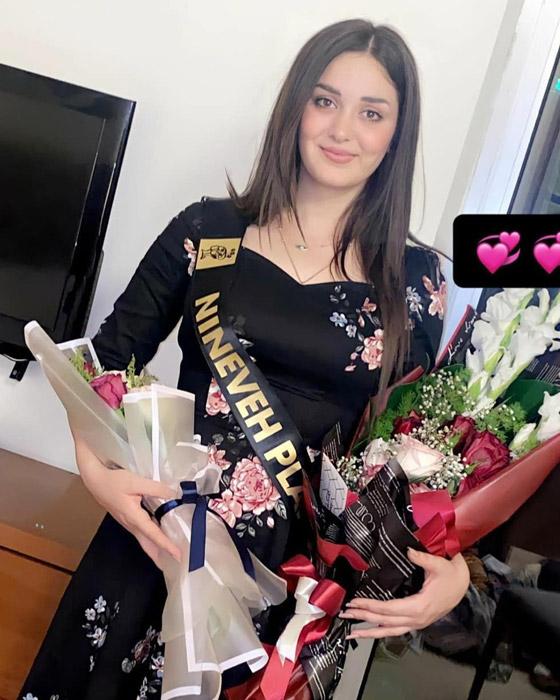صورة رقم 5 - ماريا فرهاد تتوج بملكة جمال العراق لعام 2021
